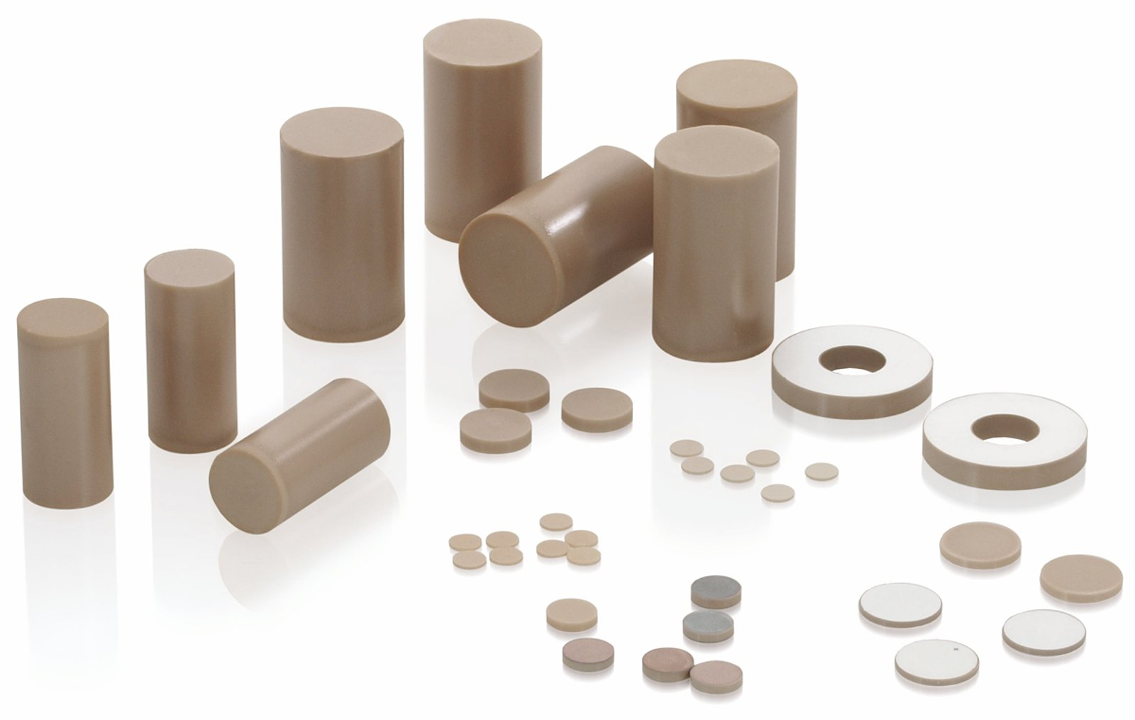 Piezoceramic materials for Waste material items