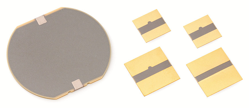 Multilayer contracting plates can be manufactured in a variety of shapes, e.g., square- or disc-shaped, and are available on request. These plates can be applied for example, to metal or silicon substrates, in order to realize bender or pump elements with low control voltages.