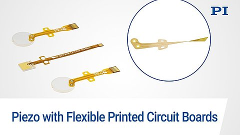 Smart Interface: Piezo Components with Flexible Printed